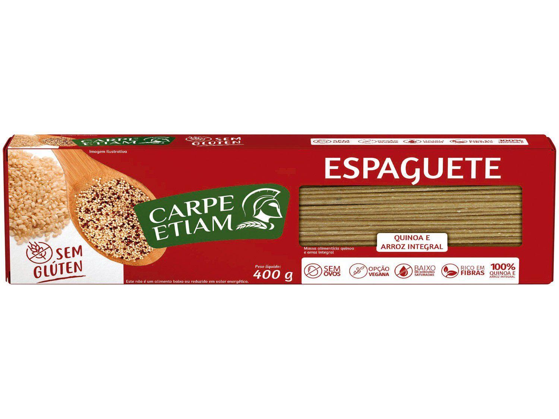 Espaguete sem Glúten - Quinoa e Arroz Integral - 400g - Carpe Etiam
