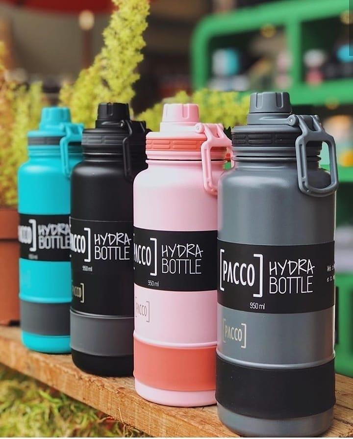 Garrafa Térmica Hydra Bottle 950 ml - Preta - Pacco