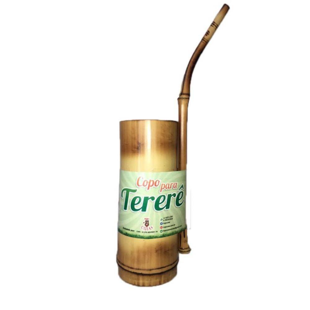 Kit Cuia e Bomba Artesanal e Ecológico de Bambu para Tereré
