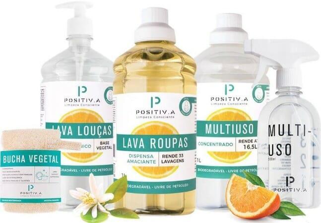 Lava Roupas, Tira Manchas e Amaciante Vegano e Biodegradável - 1 litro - Positiva