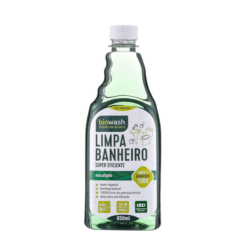 Limpa Banheiro Natural Pinho e Eucalipto 650ml - Refil - BioWash