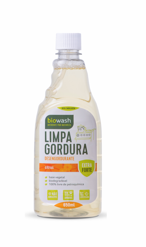 Limpa Gordura Natural e Biodegradável Refil - 650ml Biowash