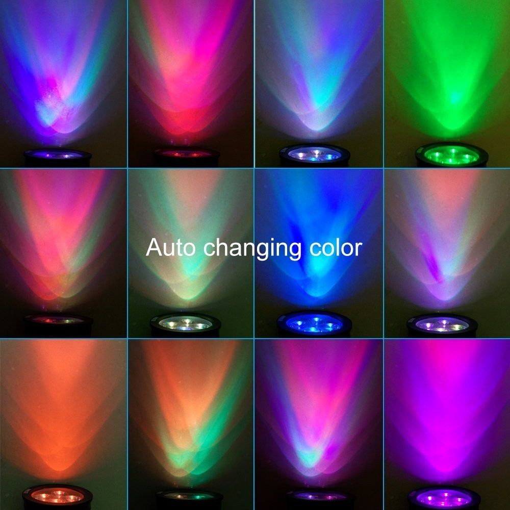 Luminária Solar tipo Espeto - Luz Colorida