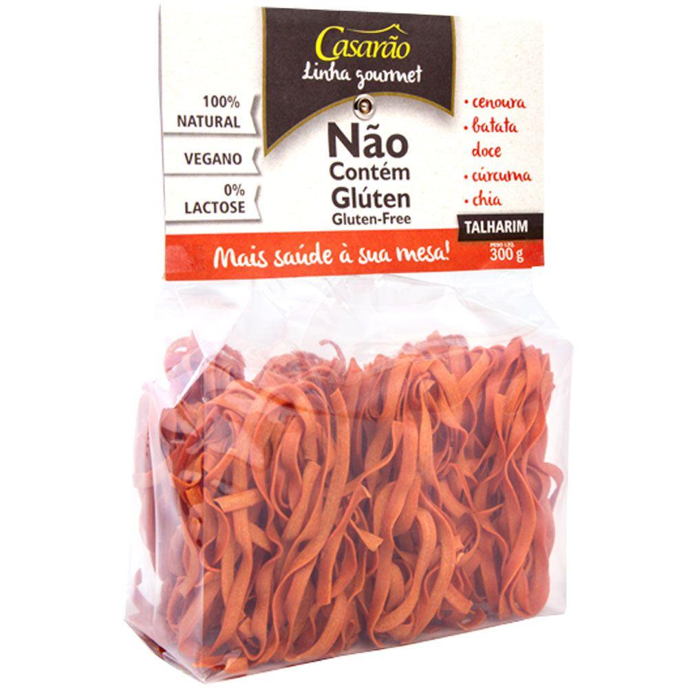 Massa Talharim de Arroz, Cenoura, Batata Doce, Cúrcuma e Chia Sem Glúten 300g - Casarão