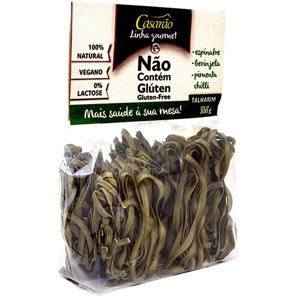 Massa Talharim de Arroz, Espinafre, Berinjela, Pimenta Chilli Sem Glúten 300g - Casarão