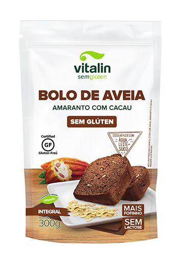 Mistura para Bolo Sem glúten de Aveia Amaranto com Cacau 300g - Vitalin