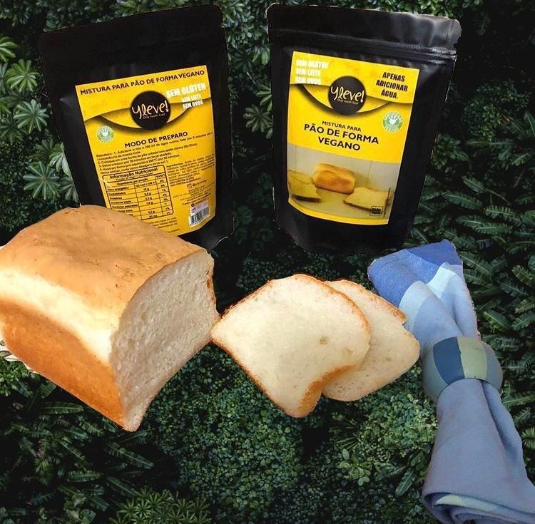 Mistura para Pão de Forma Vegano - Sem Glúten - 250g - Yleve