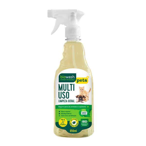 Multiuso Limpeza Geral Capim Limão Pet - 650ml - Biowash