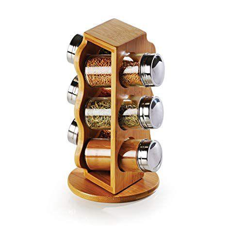 Porta-Condimentos em Bambu - Salzburgo - 7 Pçs - Welf