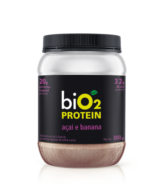 Proteína Vegetal açaí e banana 300g - Bio2