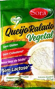 Queijo Ralado Vegetal Sem Glúten e Sem Lactose - 50g - Sora