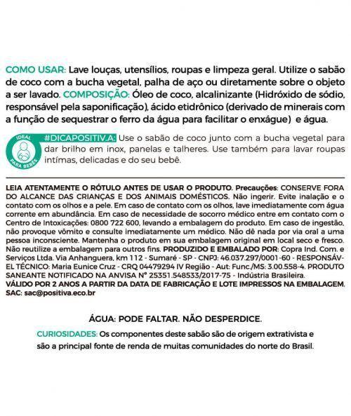 Sabão De Coco em Barra Hipoalergênico - Positiva