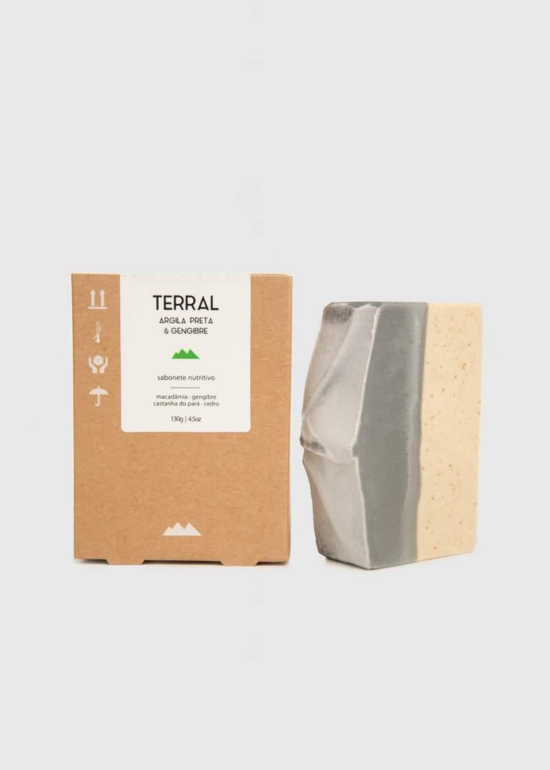 Sabonete Natural e Vegano - Argila Preta - 130g - Terral
