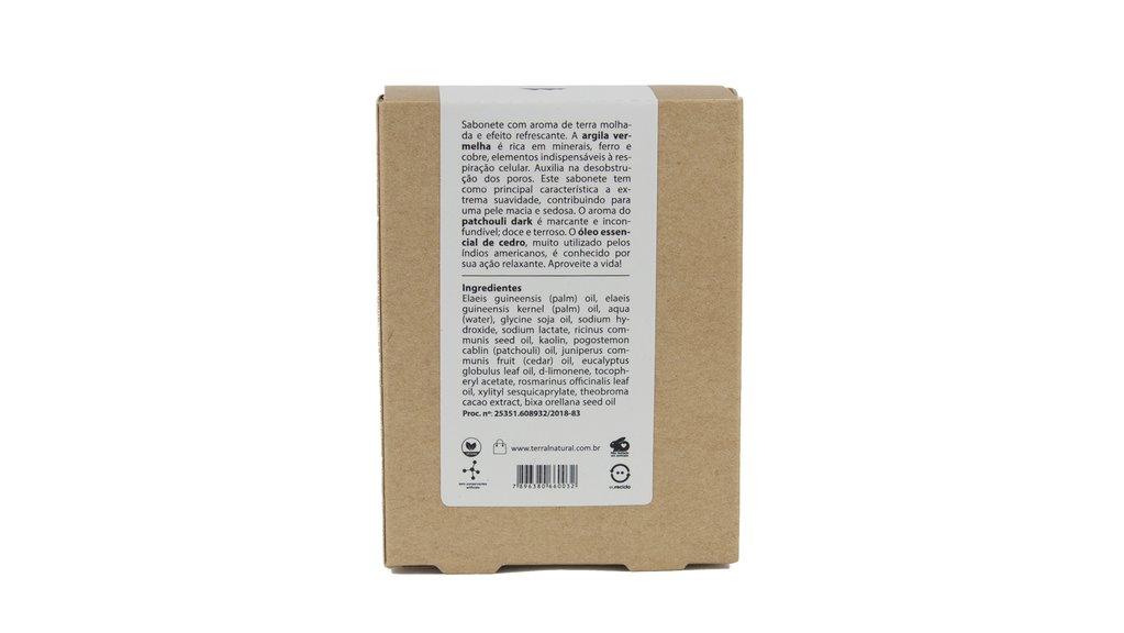 Sabonete Natural e Vegano - Argila Vermelha- 130g - Terral