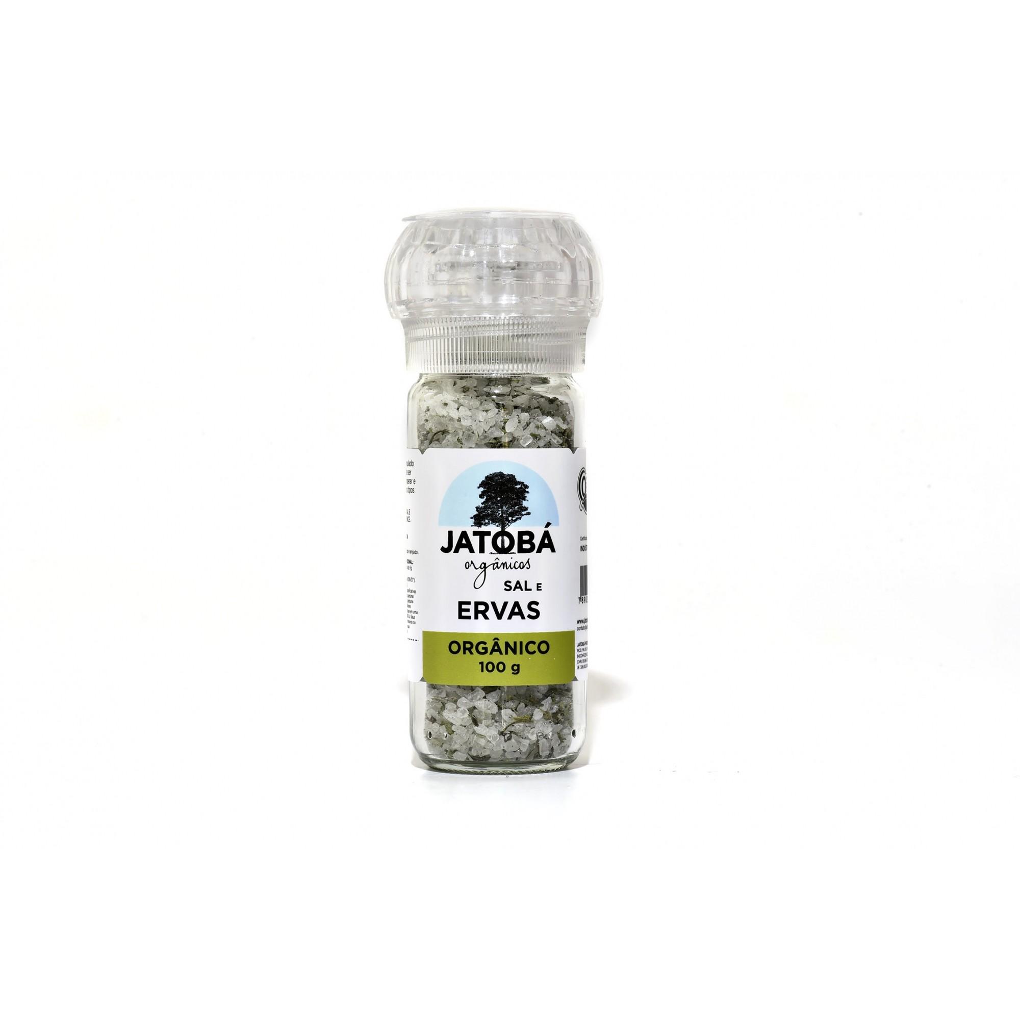 Sal e Ervas Orgânico com Moedor - 100g - Jatobá