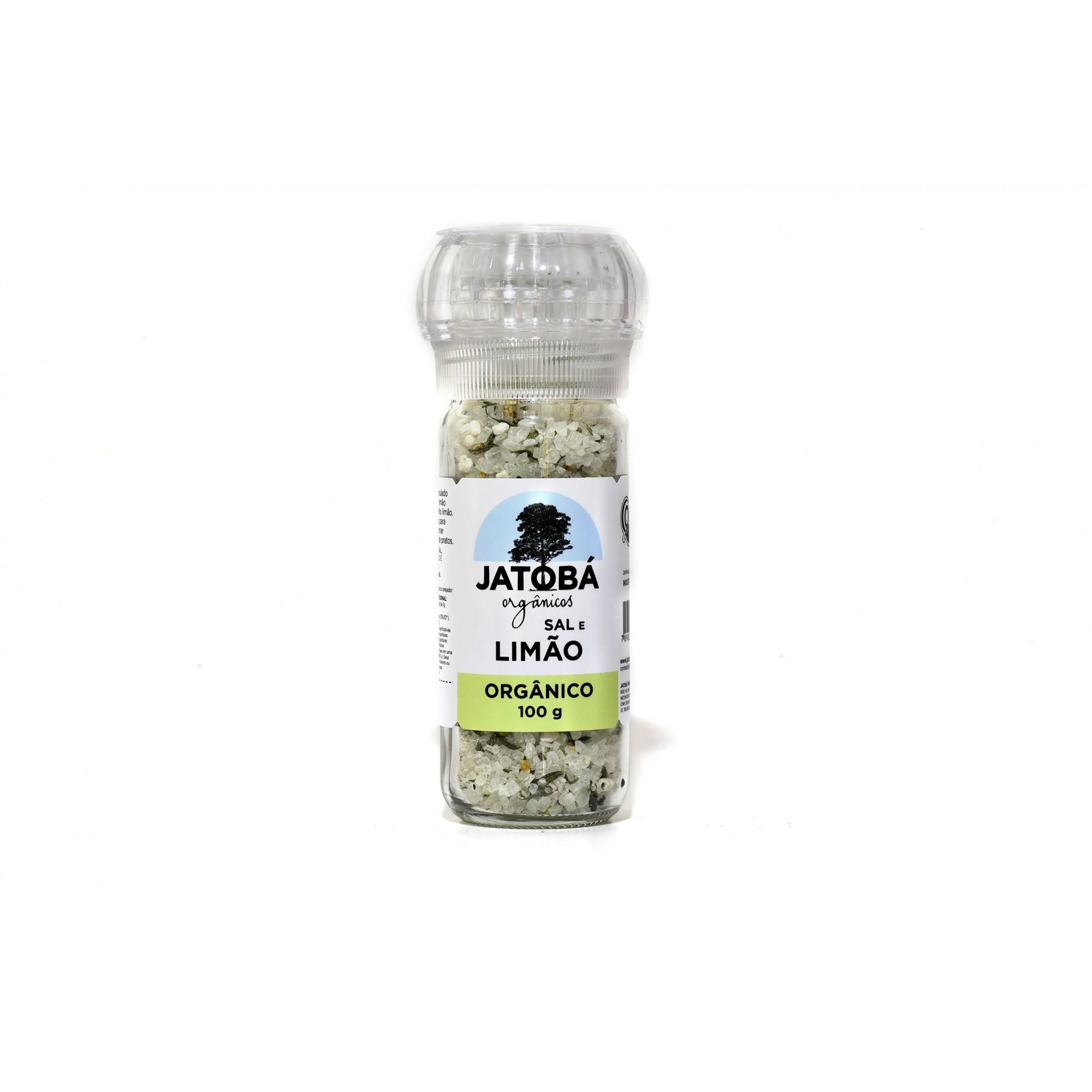 Sal e Limão Orgânico com Moedor - 100g - Jatobá