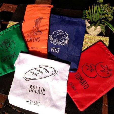 Saquinhos Conservadores de Alimento - Verde (Greens) - So Bags