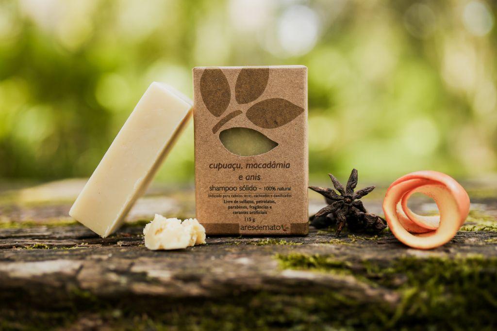 Shampoo Sólido Vegano Cupuaçu, Macadâmia e Anis - Ares de Mato