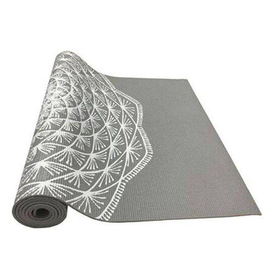 Tapete de Yoga Ecológico - PVC - Mandala - Cor Cinza - Hopumanu