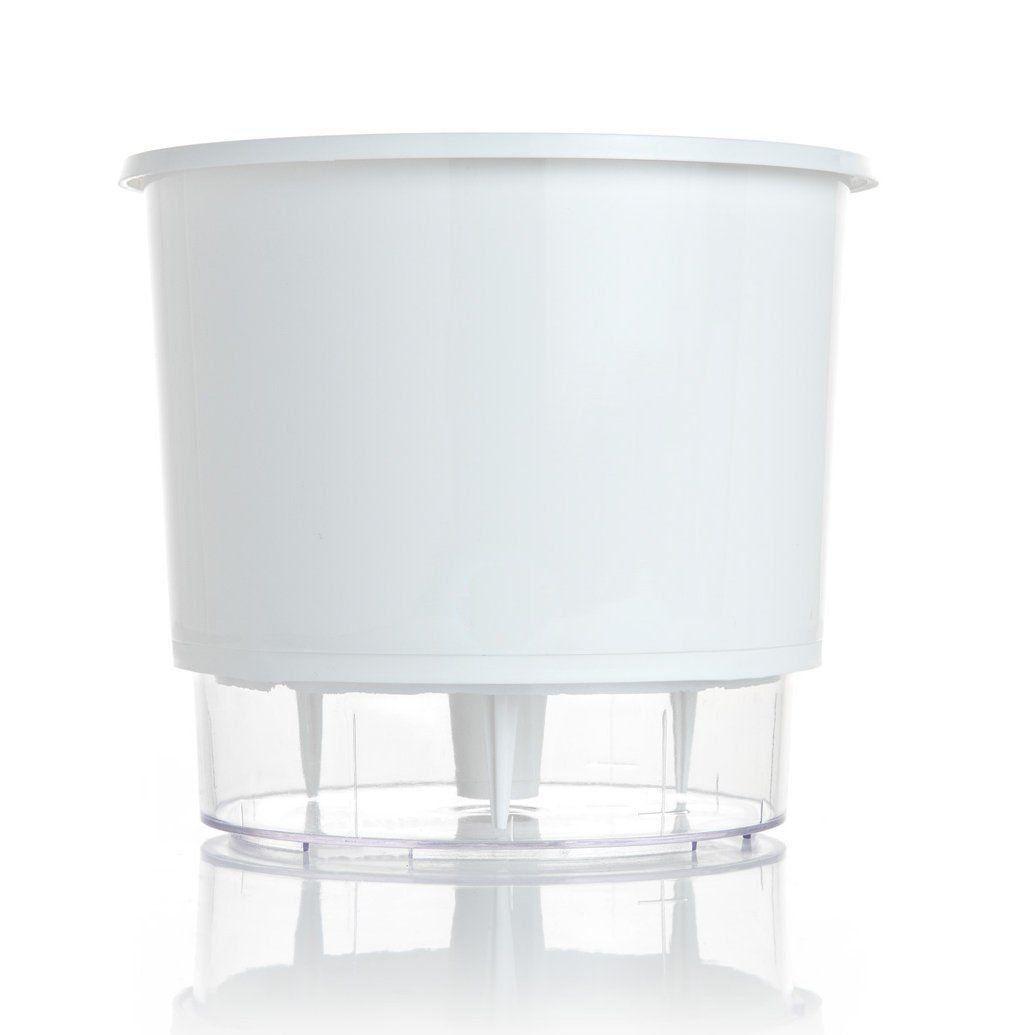 Vaso Autoirrigável Médio 16cm x 14cm Branco - Raiz