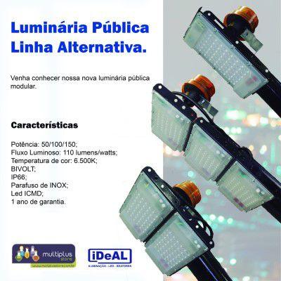 100 w luminária Ideal industrial e rural c/ braço e base
