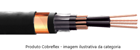 2 x 10,0 mm  cabo controle Cobreflex blind. fita cu nu 1kv pvc/pvc 70º flex.  (R$/m)  - Multiplus Store