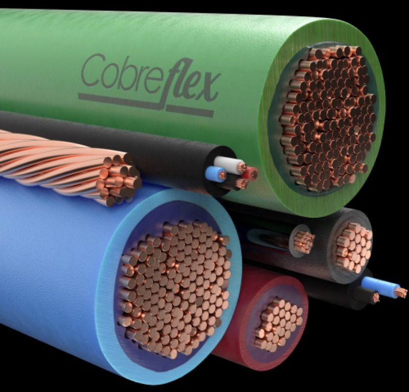 5 x 10,0 mm  cabo controle Cobreflex blind. fita cu nu 1kv pvc/pvc 70º flex.  (R$/m)  - Multiplus Store