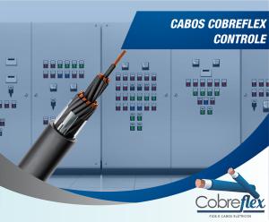 9 x 6,0 mm  cabo controle Cobreflex blind. fita cu nu 1kv pvc/pvc 70º flex.  (R$/m)