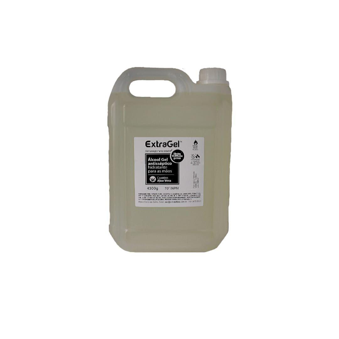 álcool gel 70º antisséptico galão 4500 gramas