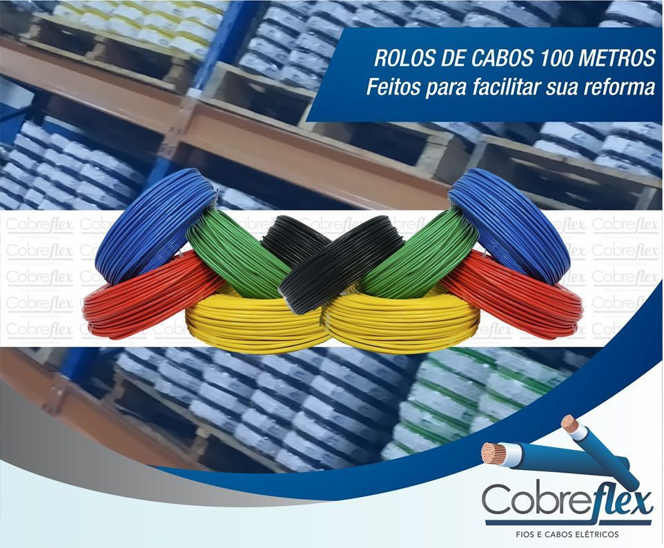6,00 mm cabo flexivel Cobreflex atox 750v (100m)   - Multiplus Store