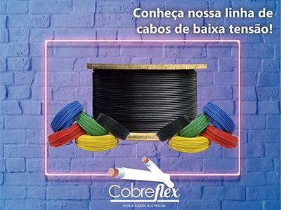 4 x 4,0 mm cabo flexivel Cobreflex atox hepr 0,6/1kv (R$/m)  - Multiplus Store