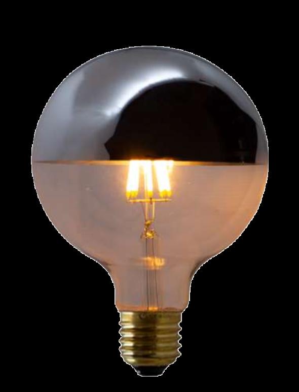 Lampada de Filamento LED G125 Defletora 8W  - Multiplus Store