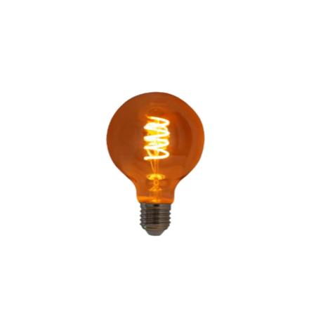 Lampada de Filamento LED G80 Spiral 4W 110V Dimerizavel