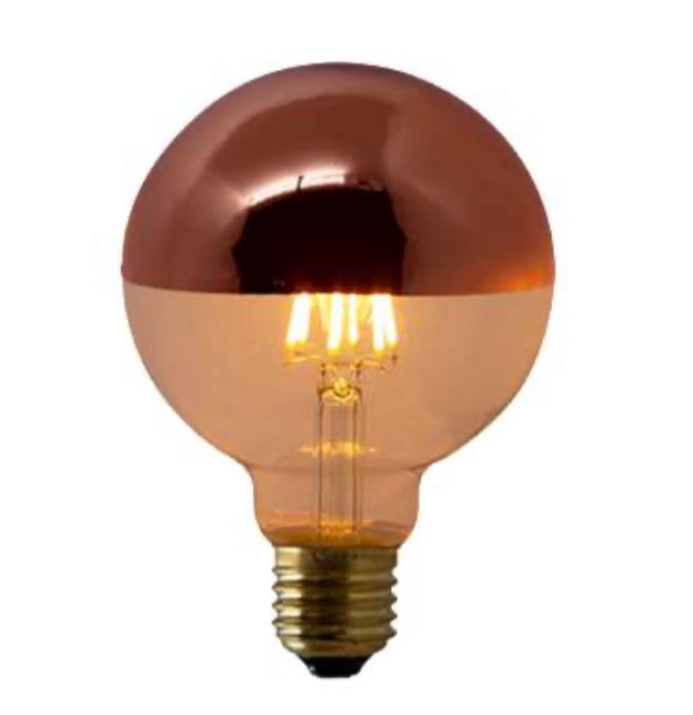 Lampada de Filamento LED G95 Defletora 6W - Rose