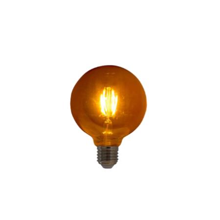 Lampada de Filamento LED G95 Spiral 4W 220V Dimerizavel