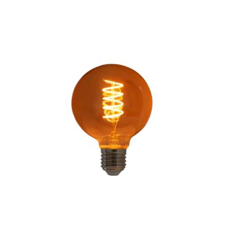 Lampada de Filamento LED G95 Squirrel Cage 4W 110V Dimerizavel
