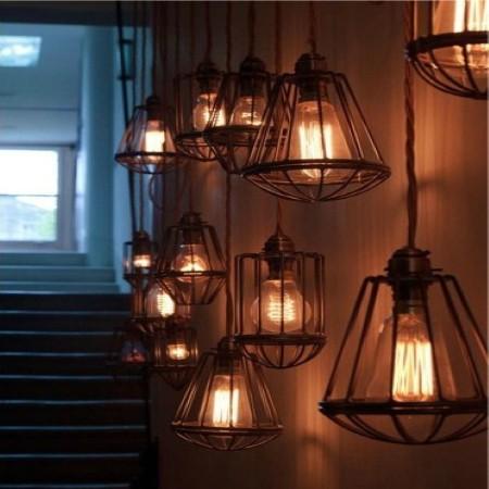 Lampada de Filamento LED G95 Squirrel Cage 4W 110V Dimerizavel  - Multiplus Store