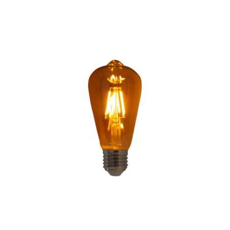 Lampada de Filamento LED ST64 Squirrel Cage 4W 110V Dimerizavel