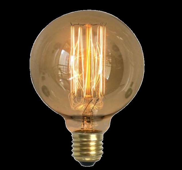 Lampada de Resistencia de Carbono G95 Squirrel Cage 40W 110V