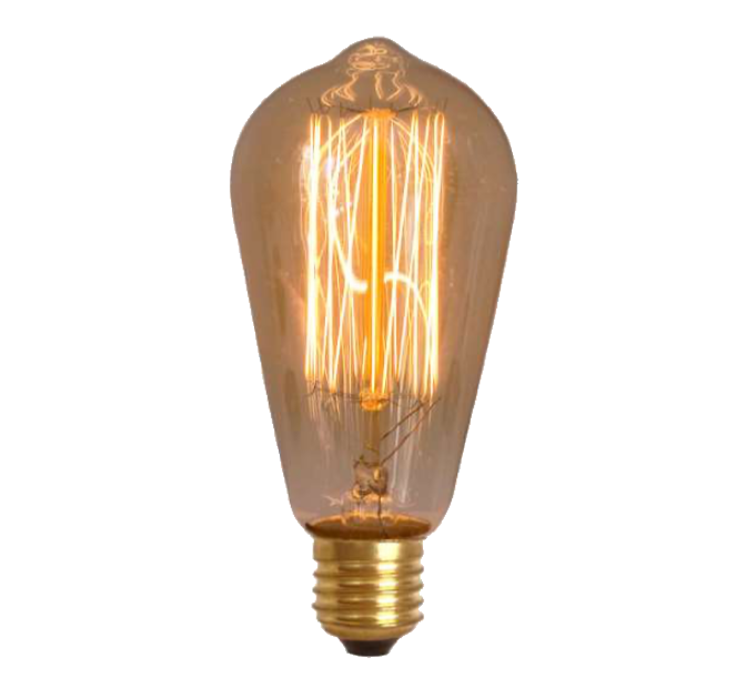 Lampada de Resistencia de Carbono ST64 Squirrel Cage 40W 110V  - Multiplus Store