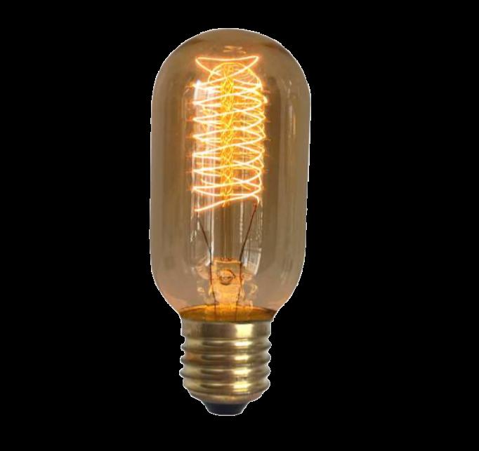 Lampada de Resistencia de Carbono T45 Spiral 40W 110V  - Multiplus Store
