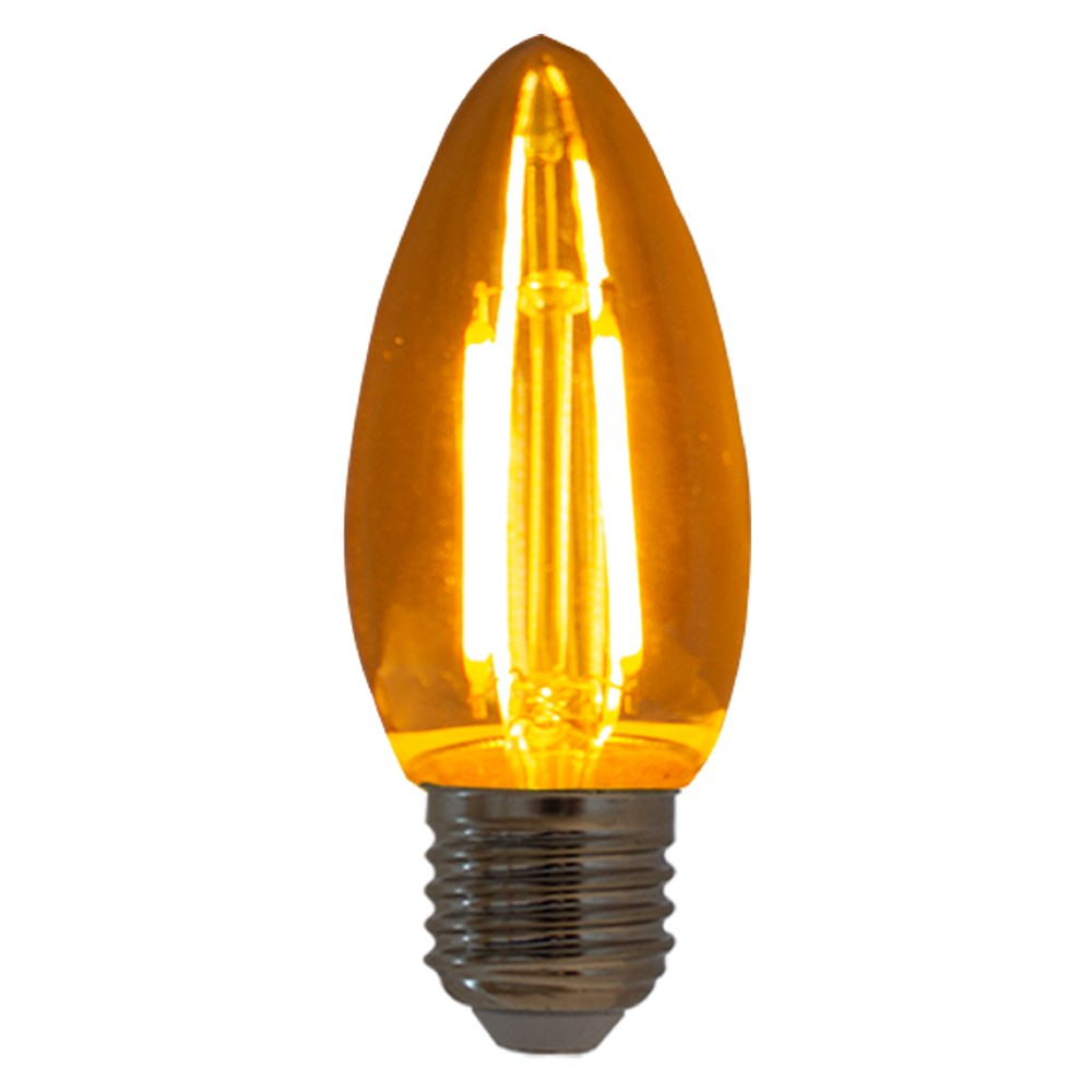 Lâmpada de Filamento LED Vela 2W 2200K