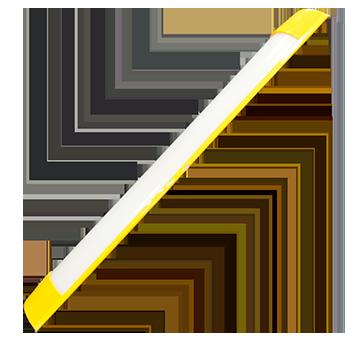 mg 36w amarelo   luminária Ideal led slim  - Multiplus Store