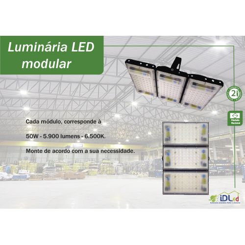 50 w led modular Ideal industrial e rural  - Multiplus Store
