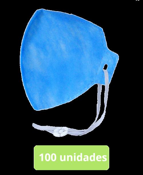 máscara respirador semifacial pff2 (s) c/ c.a. 100 unid.