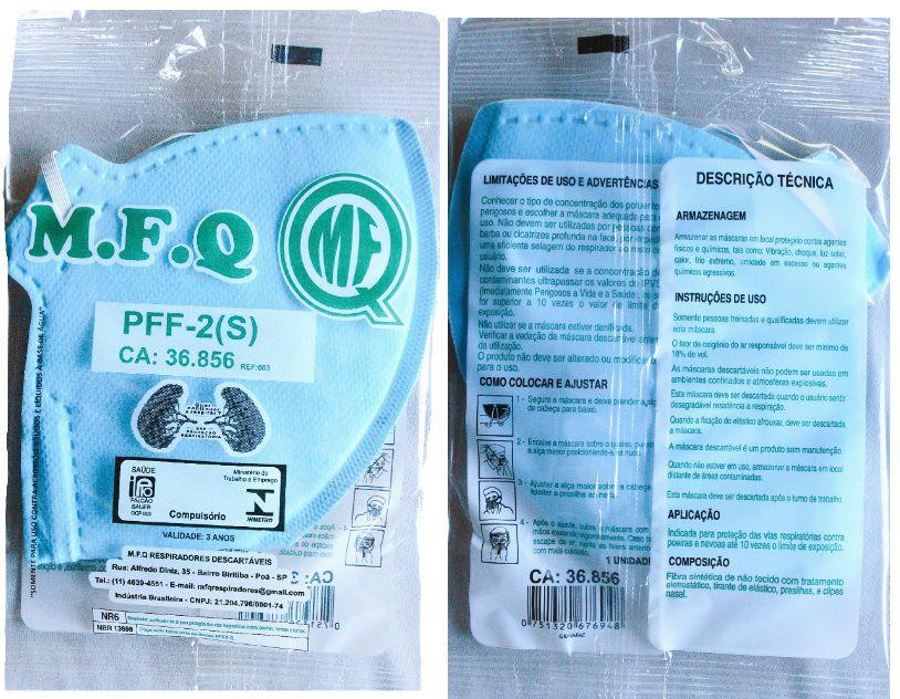 máscara respirador semifacial pff2 (s) c/ c.a. 25 unid.  - Multiplus Store