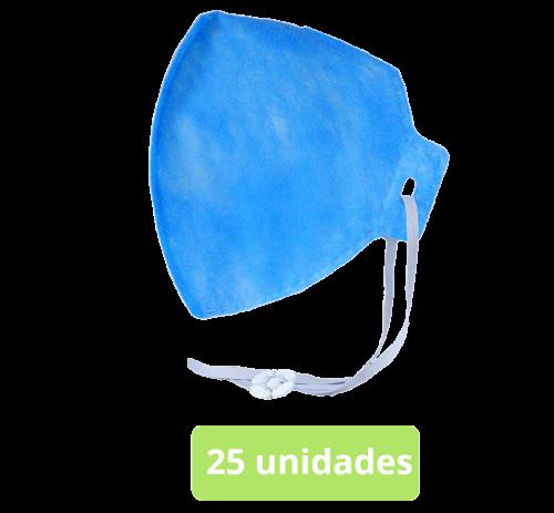 máscara respirador semifacial pff2 (s) c/ c.a. 25 unid.