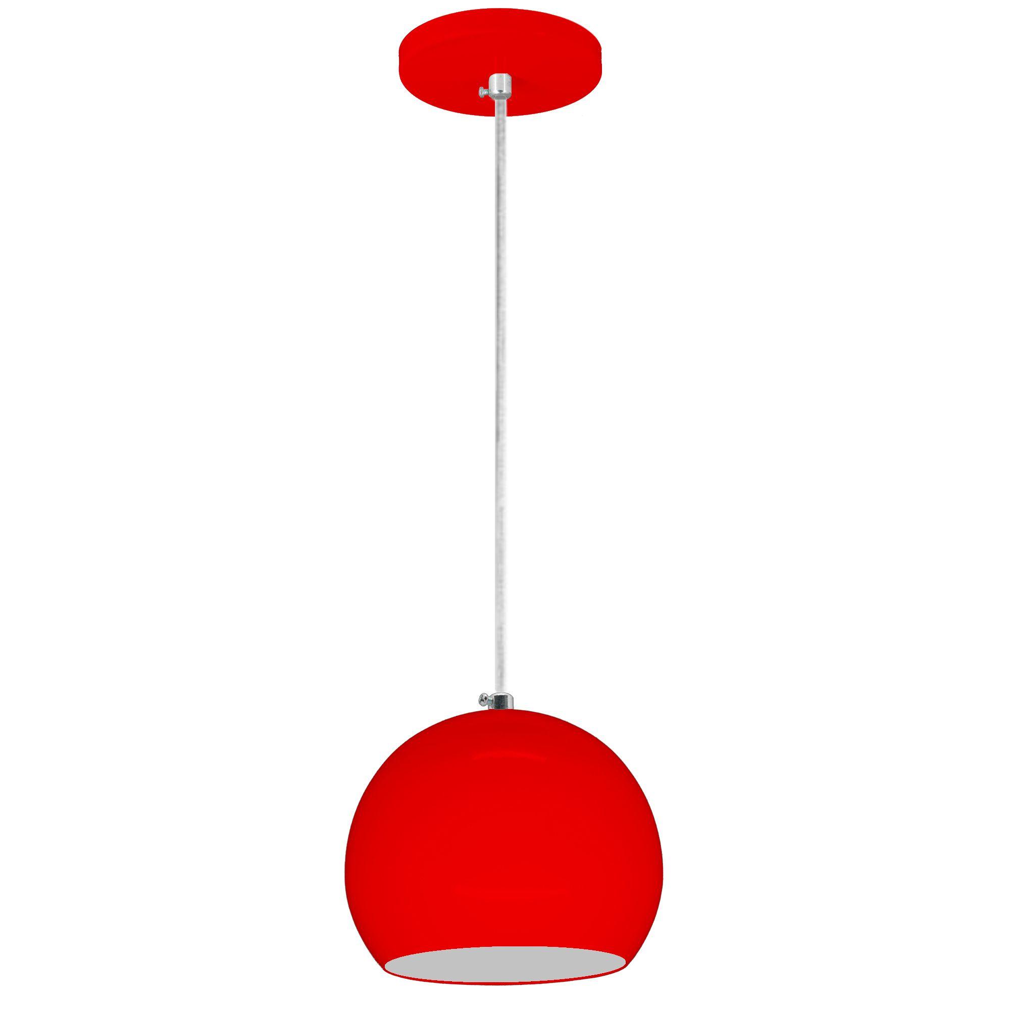 pendente Sciaza  alumínio bola vermelho