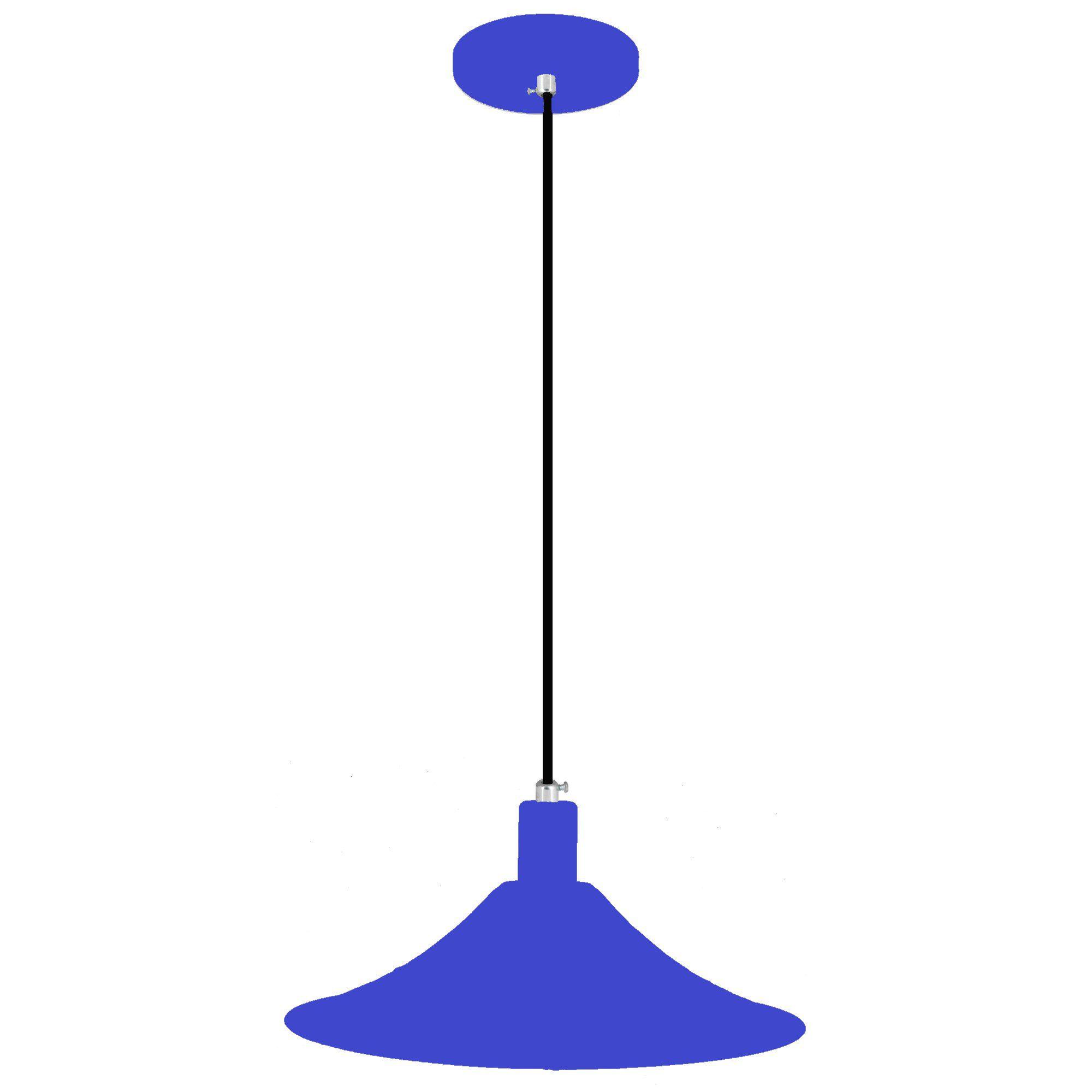 pendente Sciaza  alumínio chapéu chinês azul
