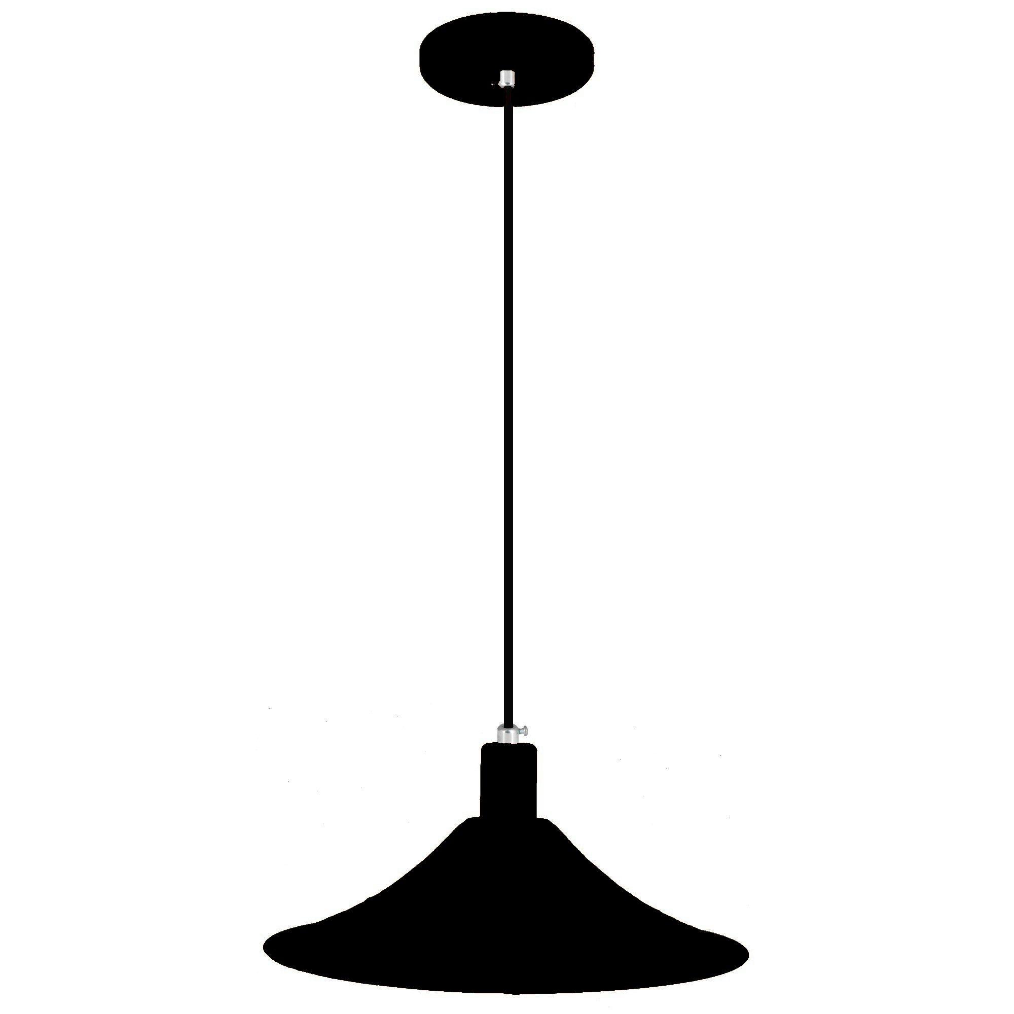 pendente Sciaza  alumínio chapéu chinês preto